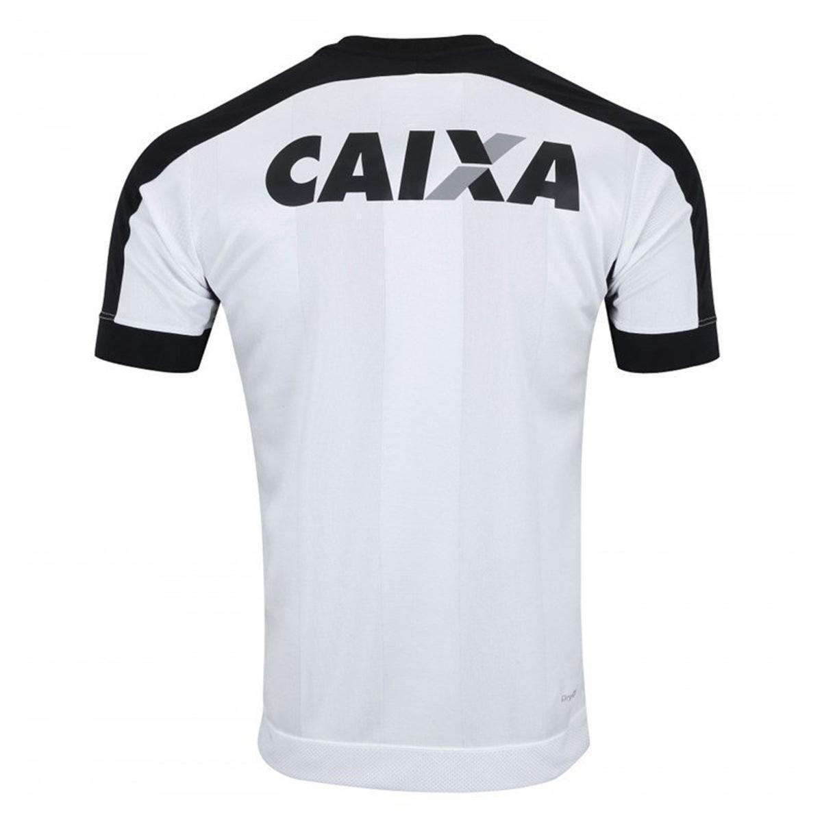 9b965678cb Camisa Topper Botafogo III 2017 Masculina - Branco e Preto - Compre ...