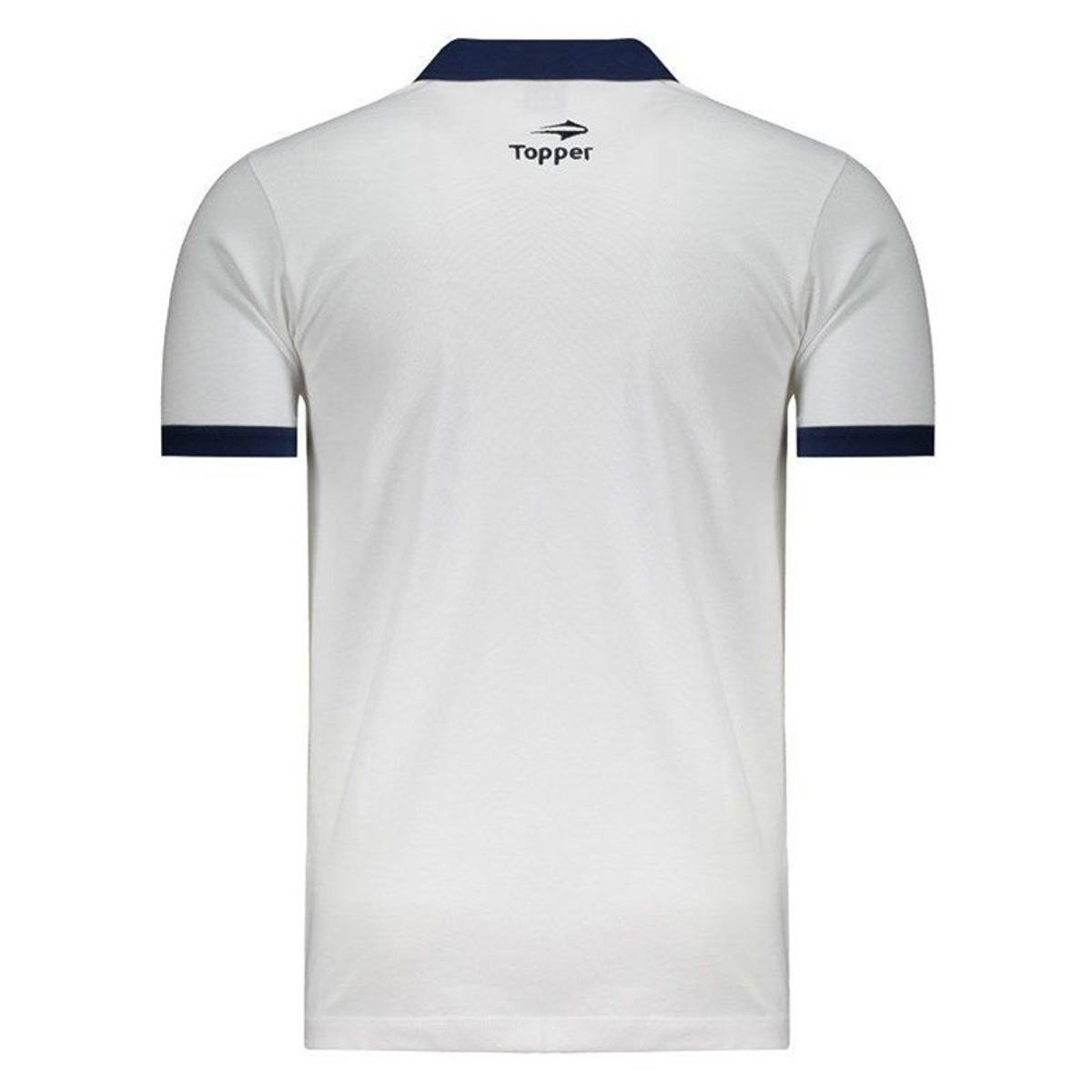 Camisa Topper Remo Polo Masculina - Branco e Marinho - Compre Agora ... 0c1ebd3a12764