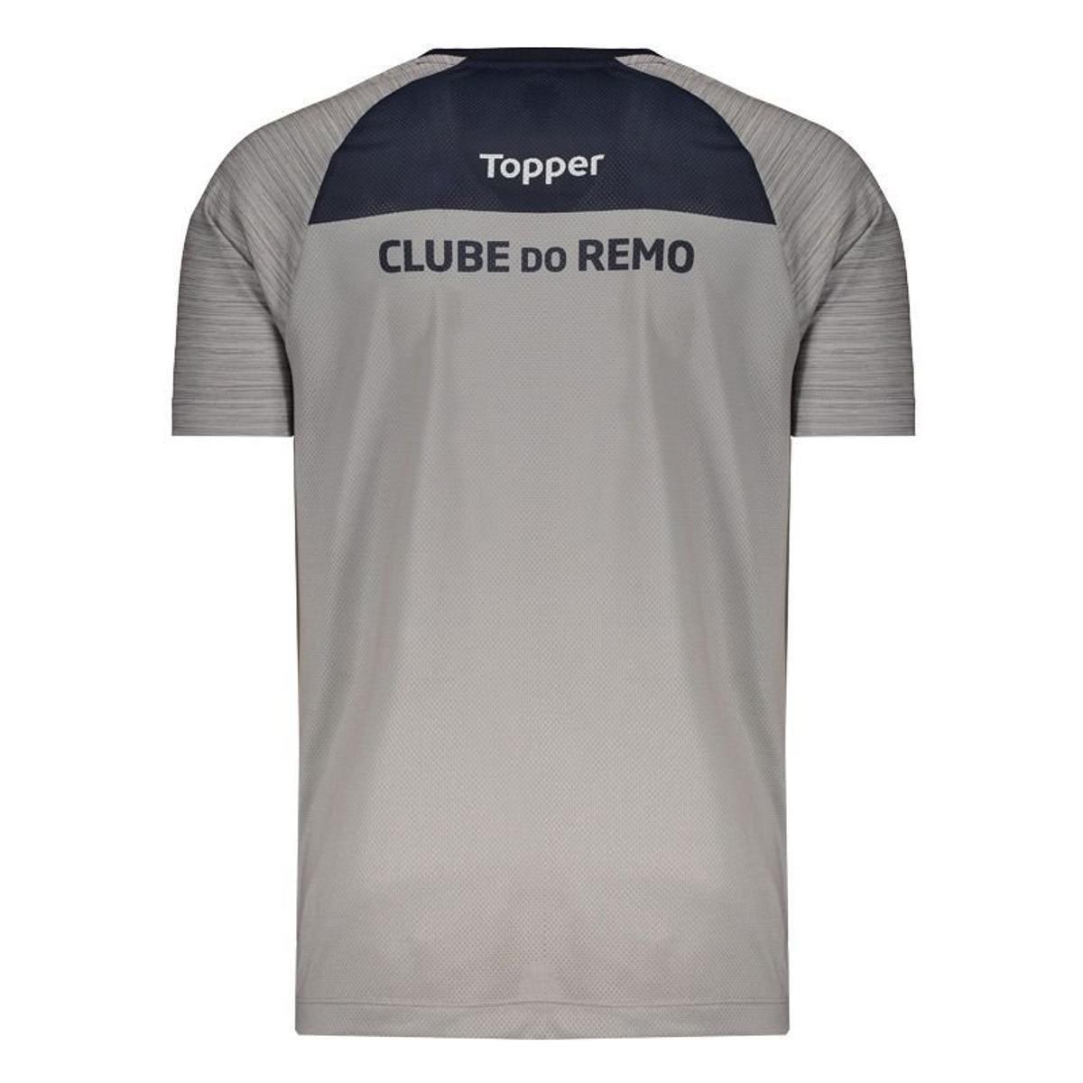 Camisa Topper Remo Treino Comissão Técnica 2018 Masculina - Cinza ... cdeaa73054c52