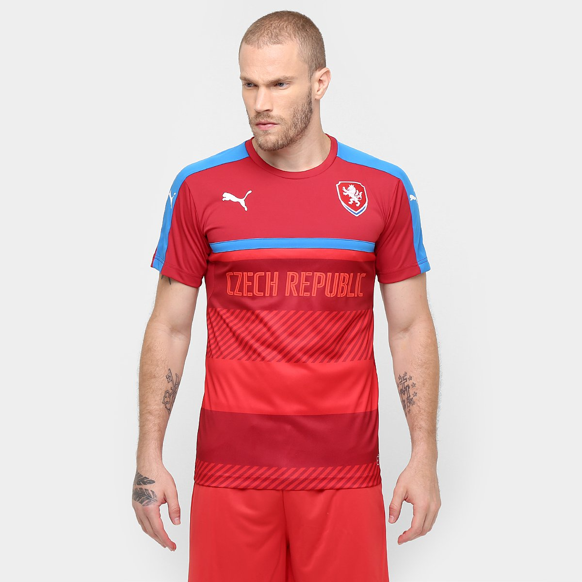 ea9d2315a9 Camisa Treino Seleção República Tcheca 2016 - Torcedor Puma Masculino -  Compre Agora