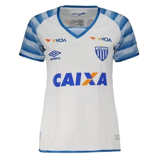 Camisa Umbro Avaí Oficial II 2017 Feminina - Branco+Azul