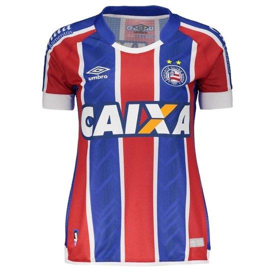 Camisa Umbro Bahia II 2017 Feminina N° 10 - Vermelho+Azul