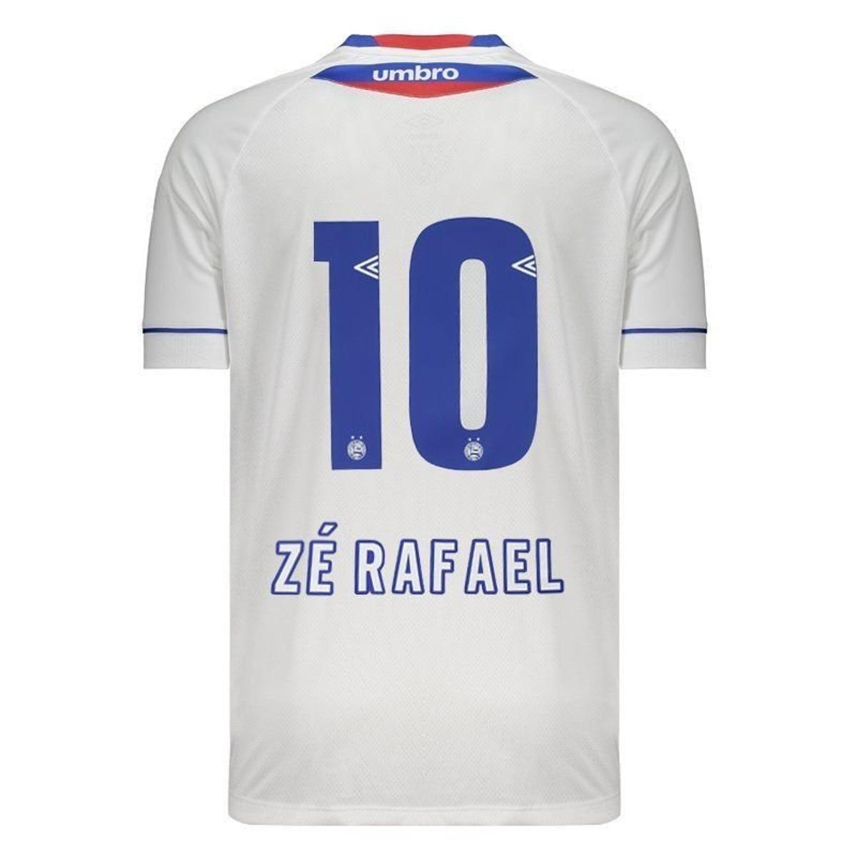 Camisa Umbro Bahia II 2018 Sk-1 N°10 Zé Rafael Masculina - Branco ... 86ffdd124735b