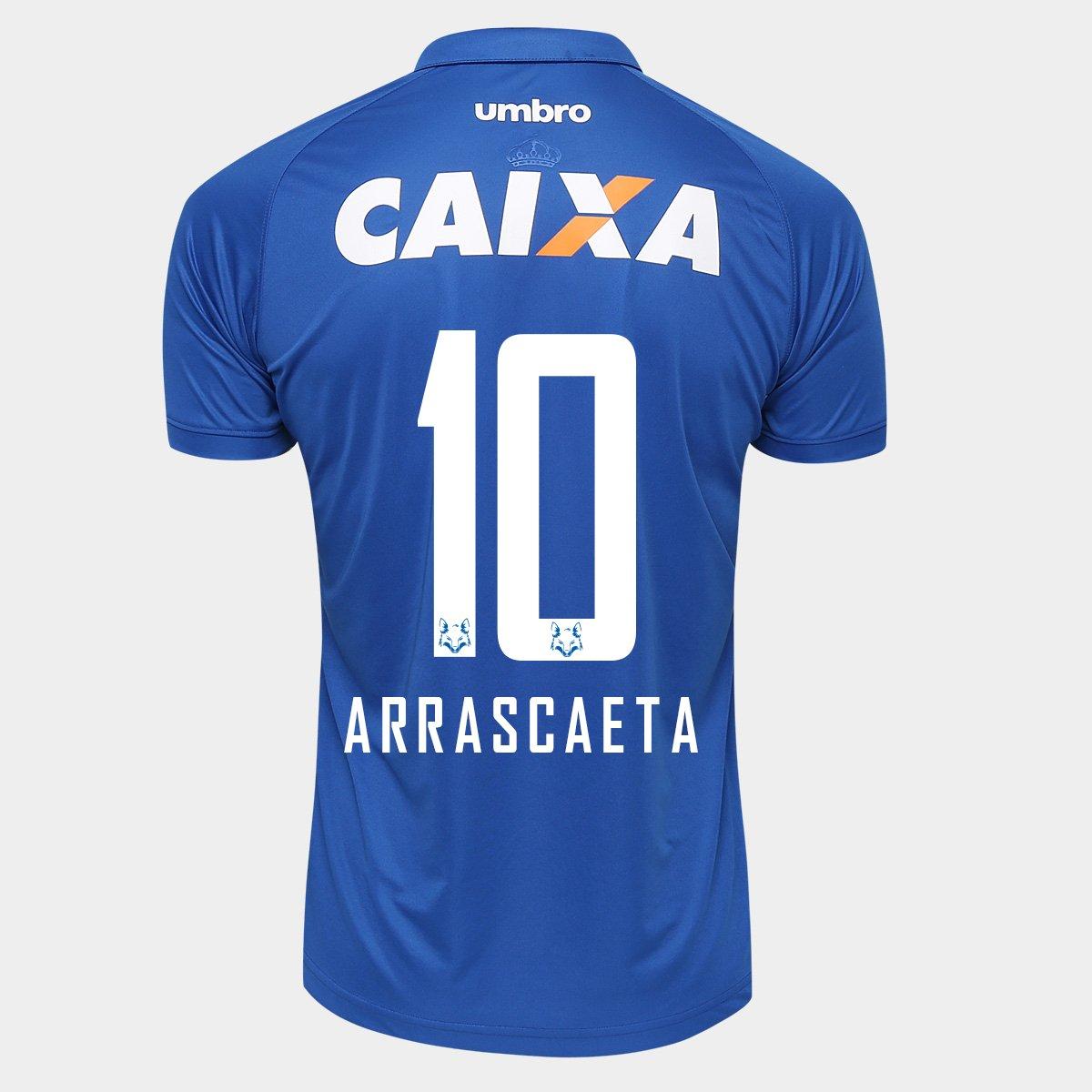 8e123d8fdb Camisa Umbro Cruzeiro I 2016 nº 10 - Arrascaeta - Compre Agora ...