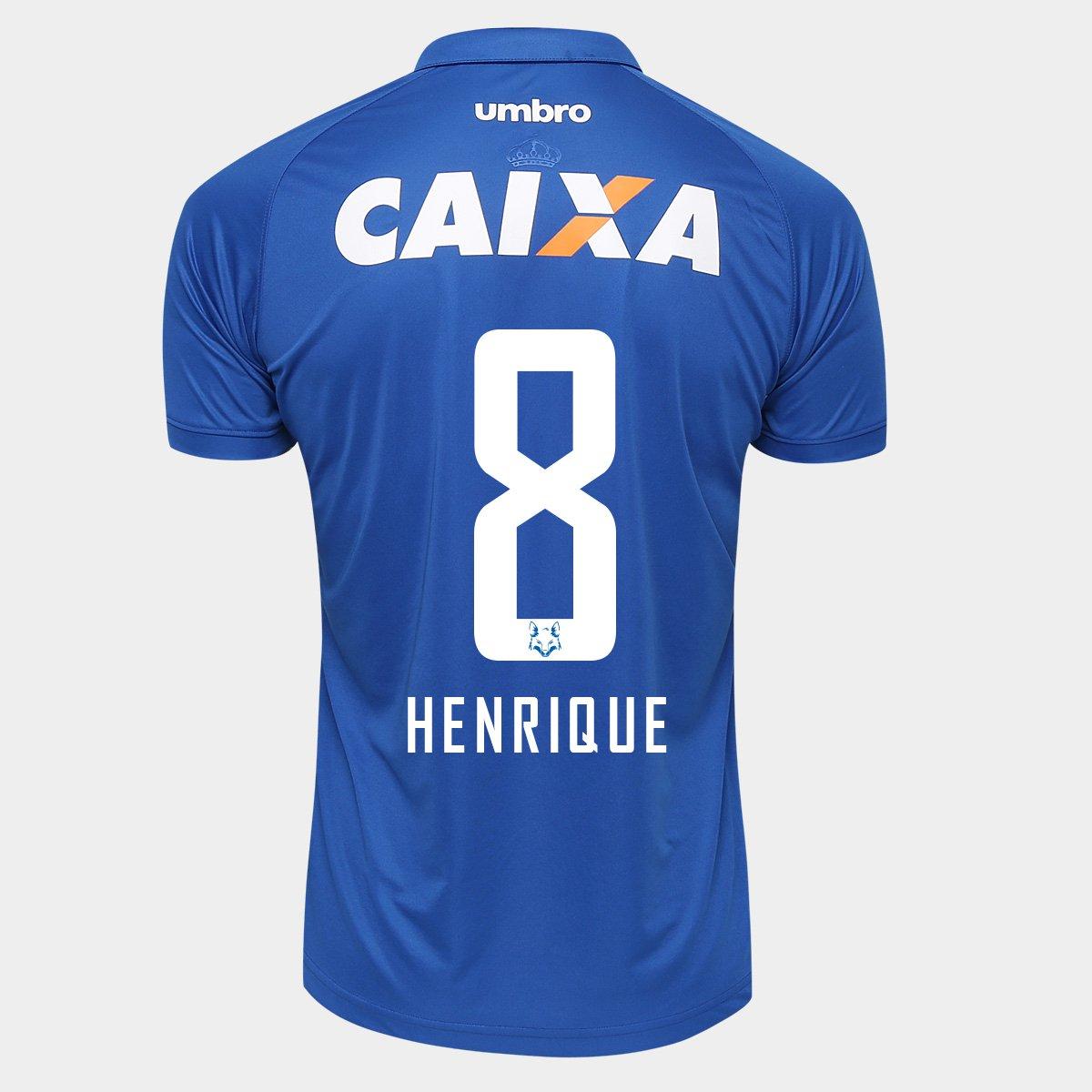Camisa Umbro Cruzeiro I 2016 nº 8 - Henrique - Compre Agora  4496d3a2162df