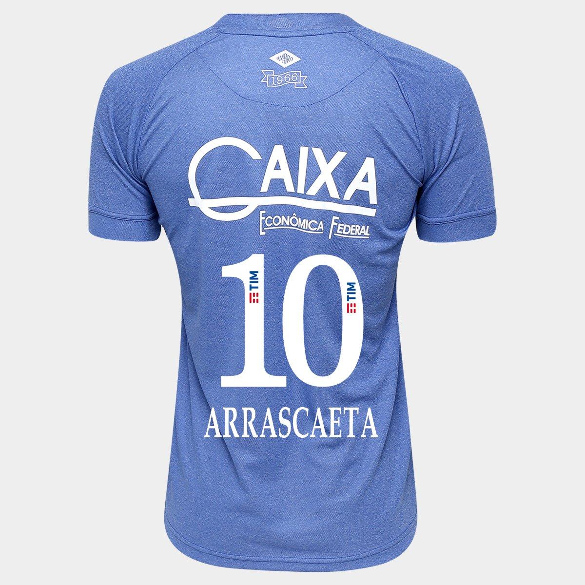 cf37b31561 Camisa Umbro Cruzeiro III 2016 nº 10 - Arrascaeta - Compre Agora ...