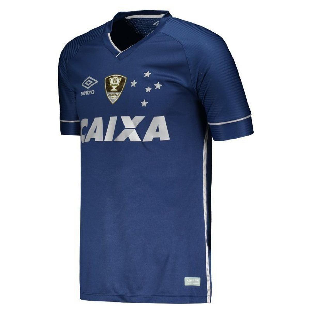 Camisa Umbro Cruzeiro III 2017 com Patch Masculina - Compre Agora ... 3a801713f8f2f