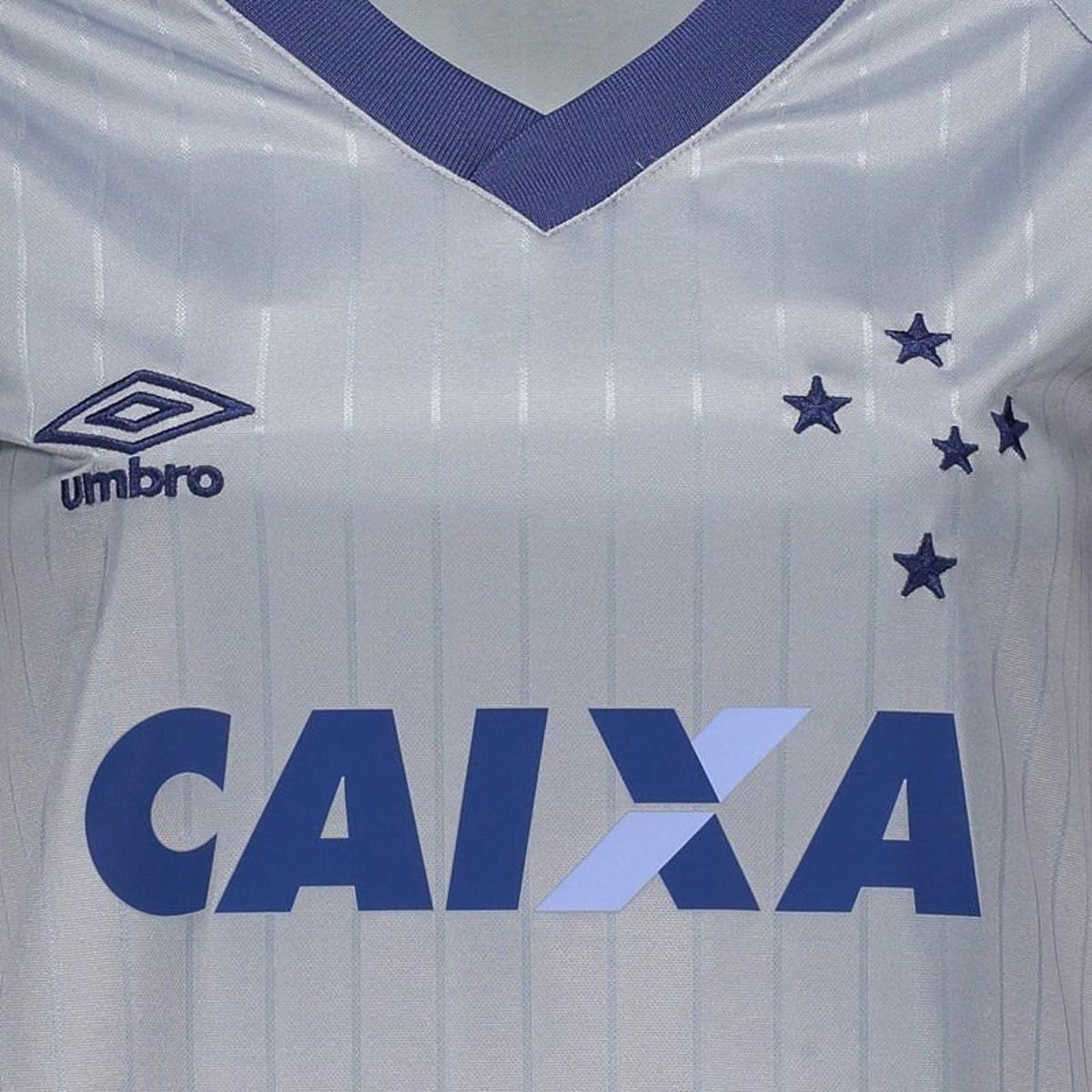 8caff28e4f Camisa Umbro Cruzeiro III 2018 Feminina - Prata - Compre Agora ...
