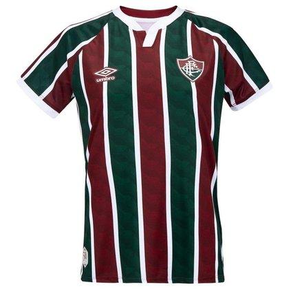 Camisa Umbro Fluminense I 2020 Feminina - Branco e Vinho