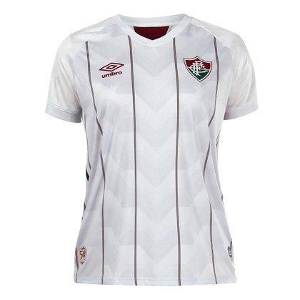 Camisa Umbro Fluminense II 2020 Feminina - Branco e Vinho
