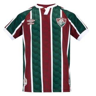 Camisa Umbro Fluminense Juvenil I 20/21 - Vinho e Verde