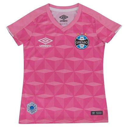 Camisa Umbro Grêmio Comemorativa Outubro Rosa Inf