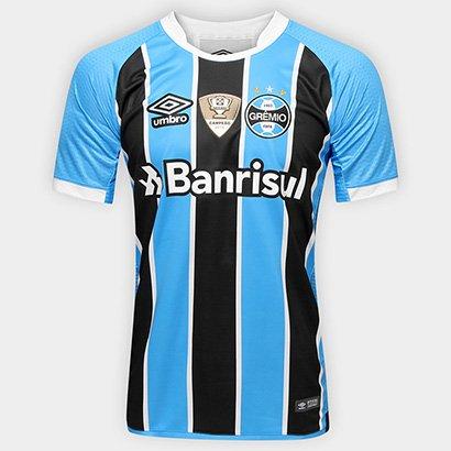 620ea6499a73f Camisa Umbro Grêmio I 17 18 S Nº - Torcedor - Patch Campeão Copa do Brasil  - Compre Agora