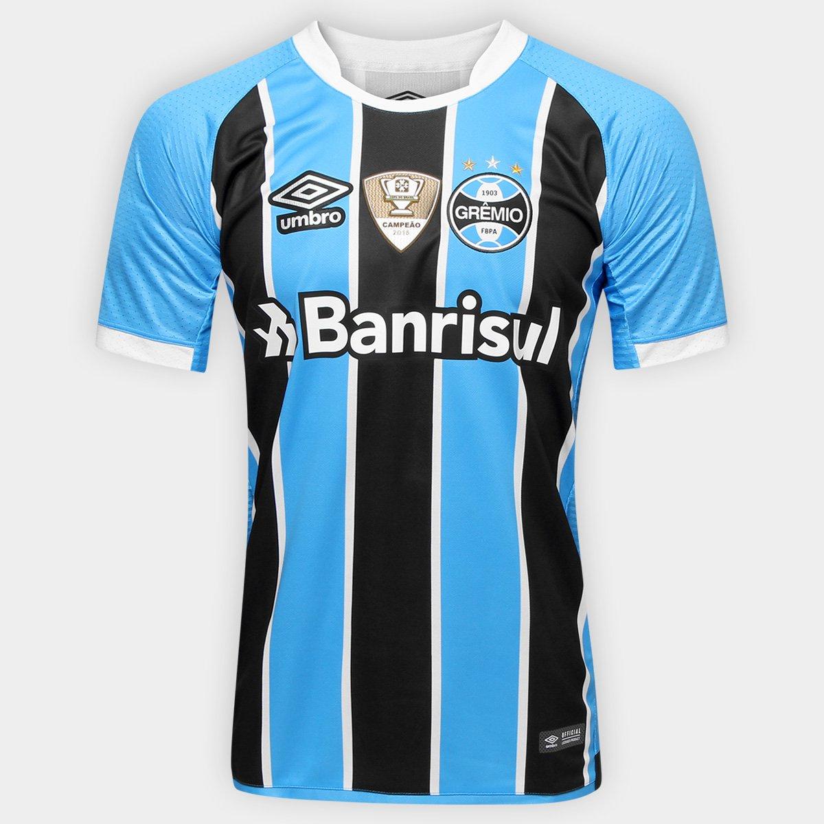 083cddd938 Camisa Umbro Grêmio I 17 18 S Nº - Torcedor - Patch Campeão Copa do Brasil  - Compre Agora