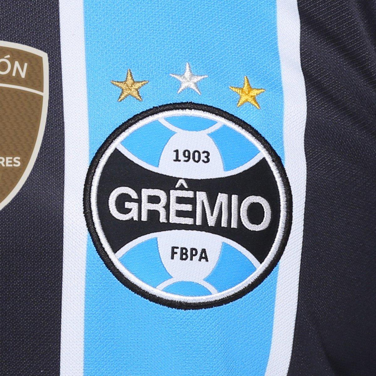 cb8b7194b8 ... Camisa Umbro Grêmio I 17 18 S Nº - Torcedor - Patch Campeão libertadores  ...