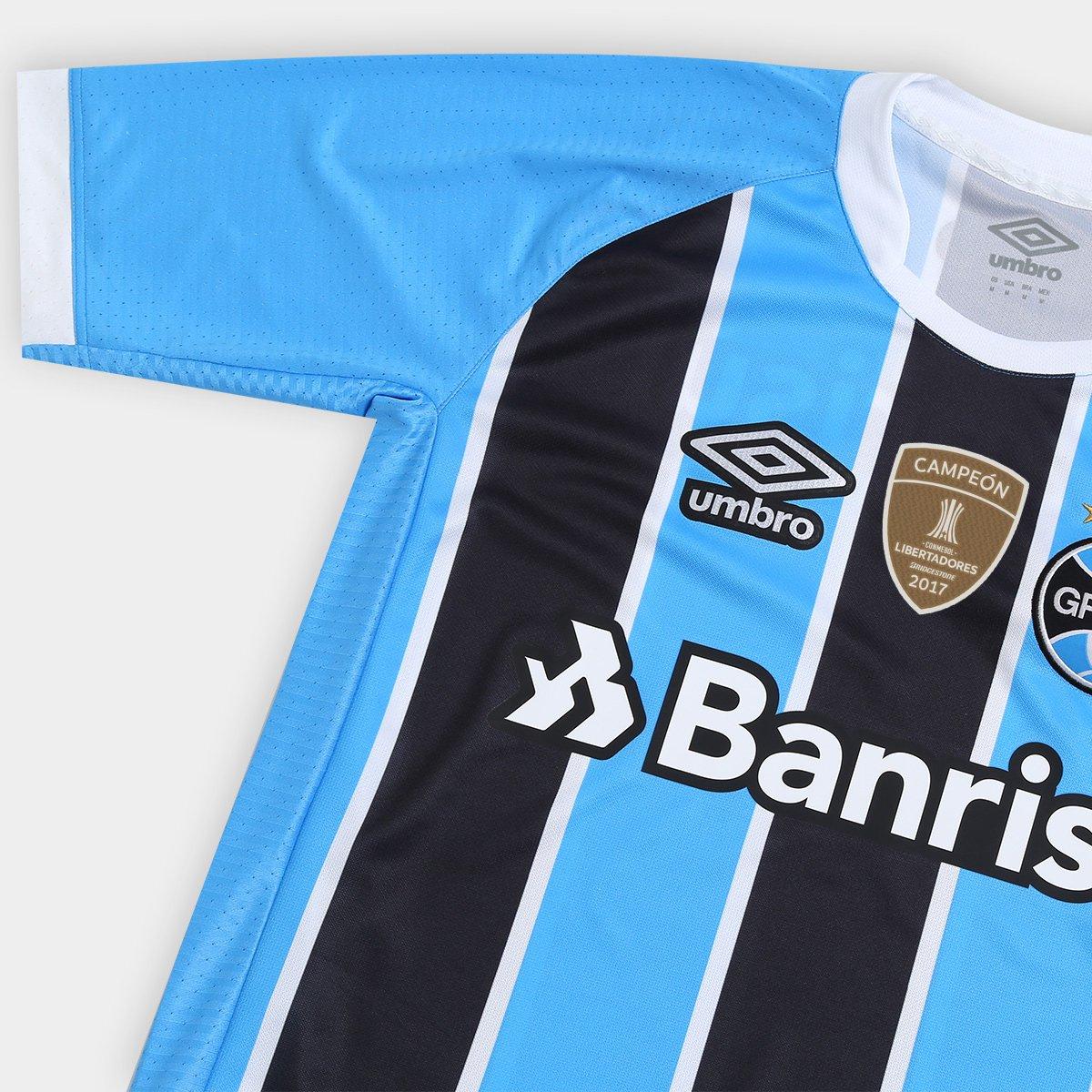 254902a09e ... Camisa Umbro Grêmio I 17 18 S Nº - Torcedor - Patch Campeão libertadores