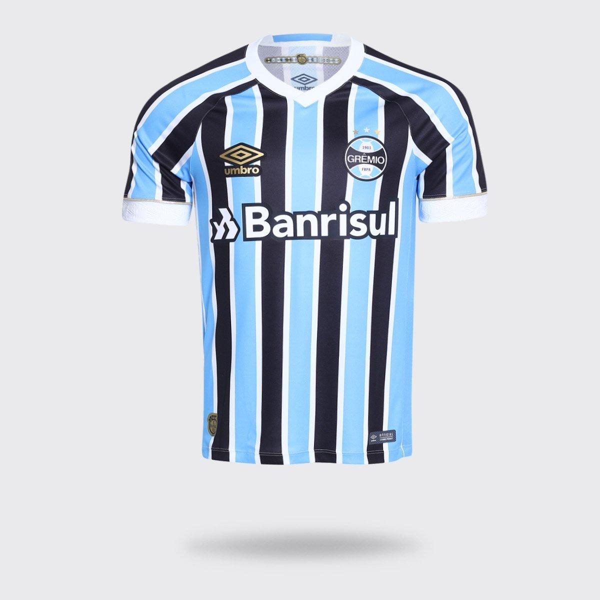 9e8d919ac3bda Camisa Umbro Grêmio I 2018 com Número Tricolor Torcedor Masculina - Compre  Agora
