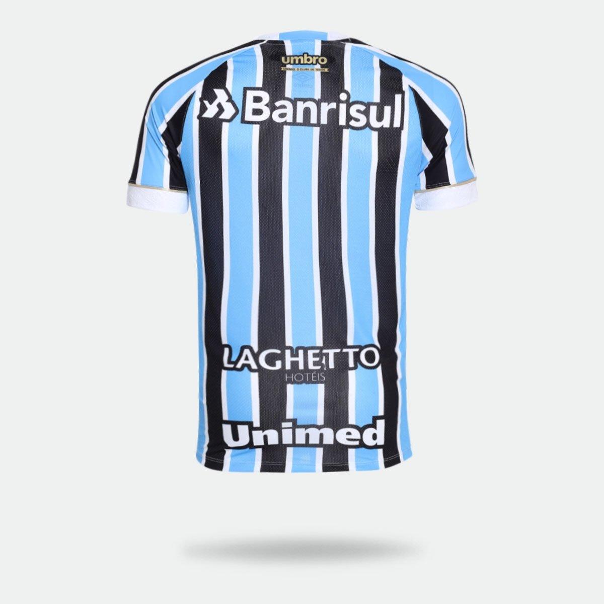 Camisa Umbro Grêmio I 2018 sem Número Tricolor Torcedor Masculina ... 282f3a283425b