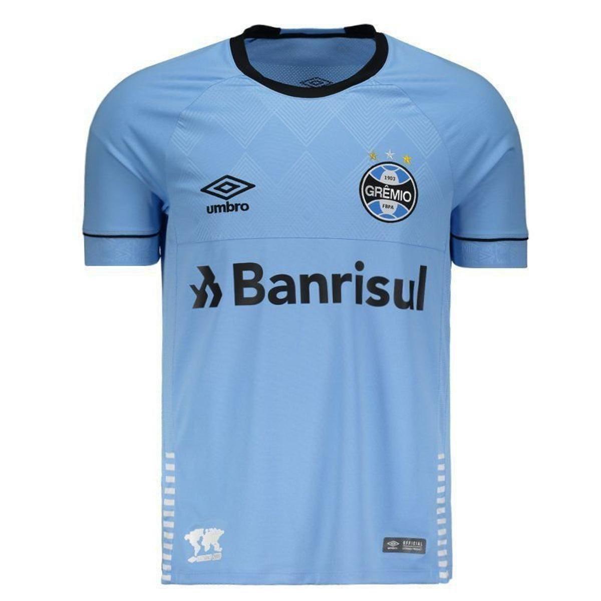 8ab397770f509 Camisa Umbro Grêmio II 2018 Charrua N°3 Geromel Masculina - Azul - Compre  Agora