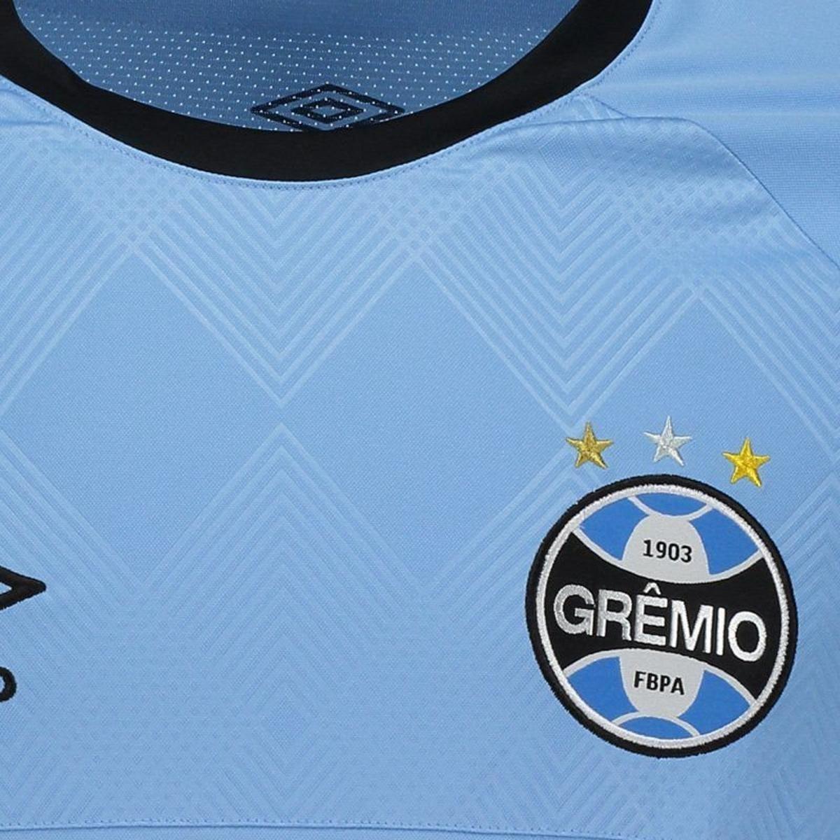 47fefb4479 Camisa Umbro Grêmio II 2018 Charrua N°7 Luan Masculina - Azul ...