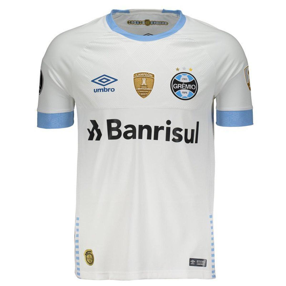 37bd3fb0d8c35 Camisa Umbro Grêmio II 2018 N° 10 Libertadores Jogador Masculina - Branco -  Compre Agora