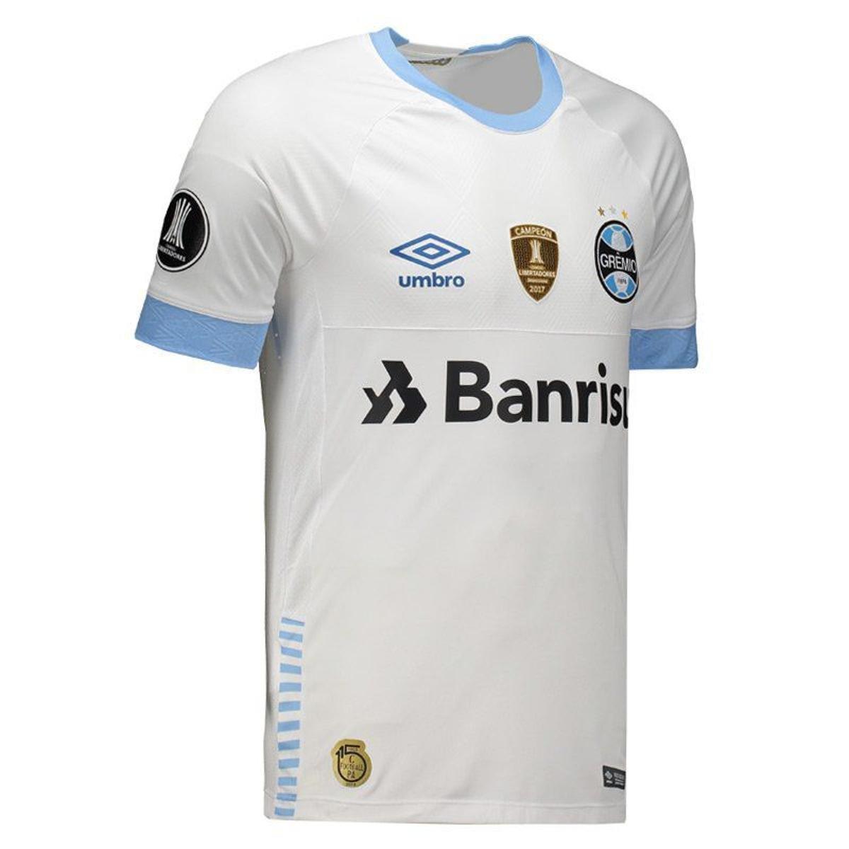 ... Camisa Umbro Grêmio II 2018 N° 10 Libertadores Jogador Masculina ... d8ffab321442d