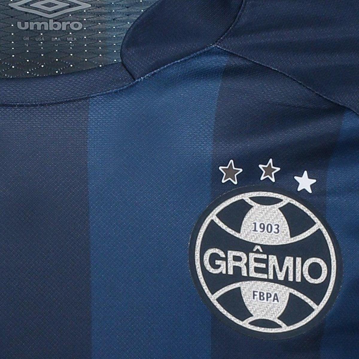 Camisa Umbro Grêmio III 2017 N° 10 Masculina - Marinho - Compre ... 51d100dbca50a