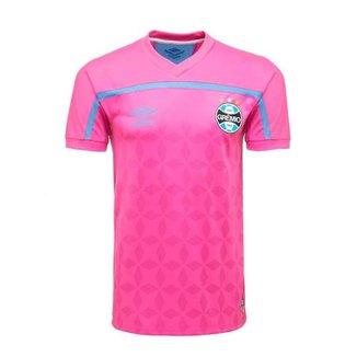 Camisa Umbro Grêmio Outubro Rosa 20/21 Masculina - Rosa