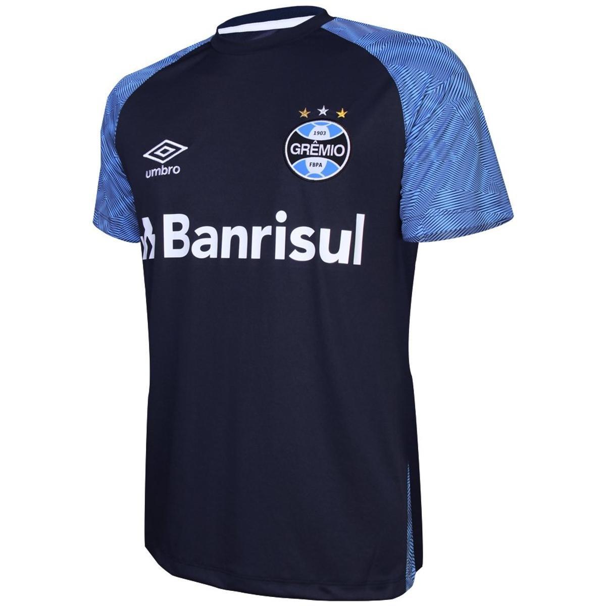 Camisa Umbro Grêmio Treino 2018 Masculina - Azul - Compre Agora ... 6ca80087ba5c1