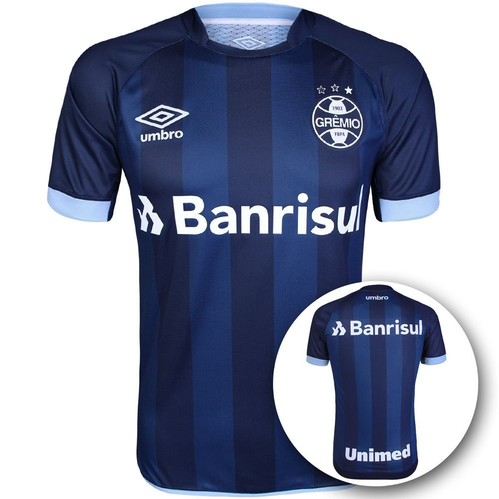 121ead2fb Camisa Umbro Masculina Grêmio III 2017 2018 Torcedor s n° - Compre Agora