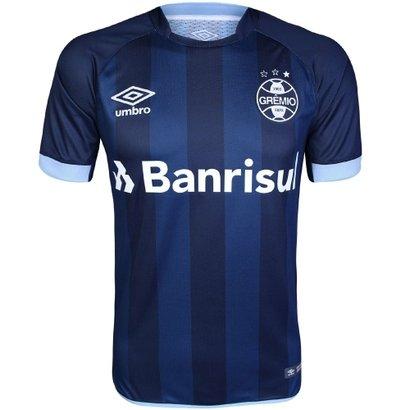 Camisa Umbro Masculina Grêmio III 2017 2018 Torcedor - Marinho e Azul -  Compre Agora  dc0433585182e
