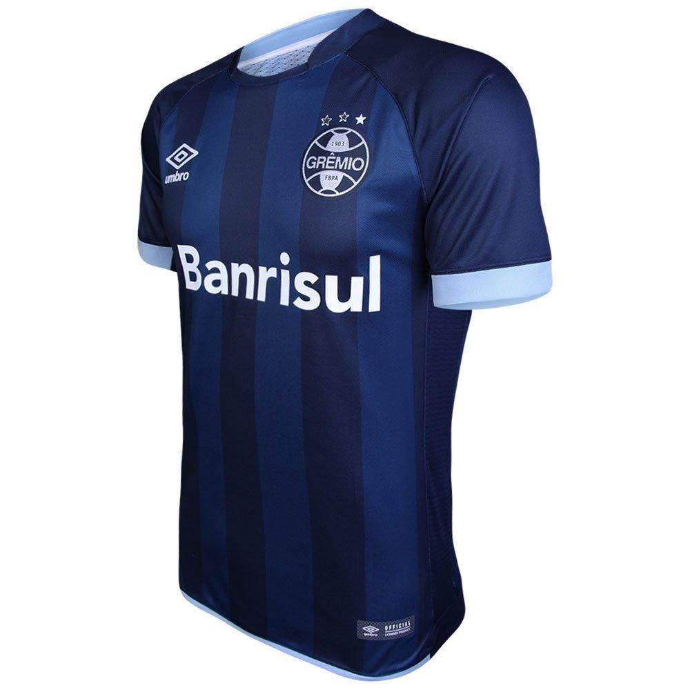 01ee549c55 Camisa Umbro Masculina Grêmio III 2017 2018 Torcedor - Marinho e ...