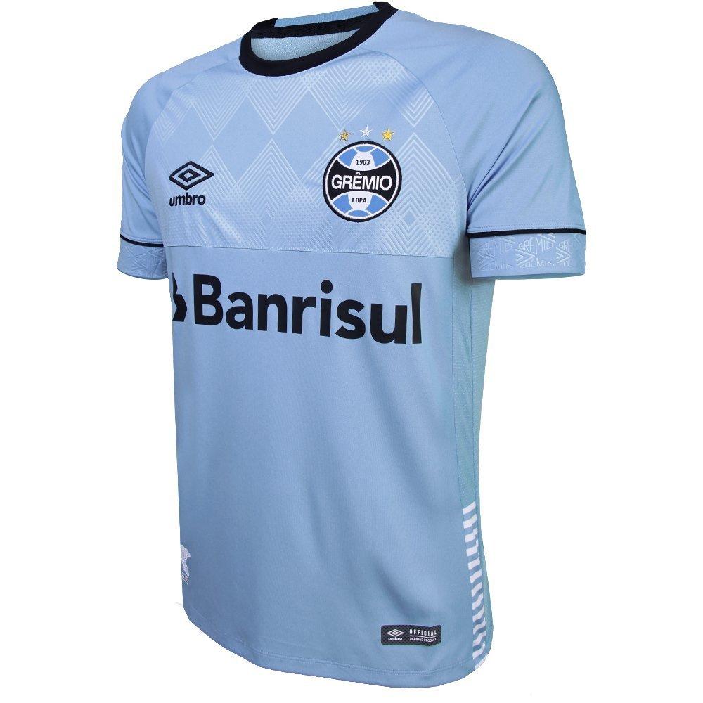 3dea48a2ce Camisa Umbro Masculina Grêmio Oficial Charrua 2018 Torcedor - Azul e ...