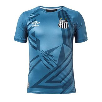 Camisa Umbro Santos Goleiro 2020 Masculina - Azul