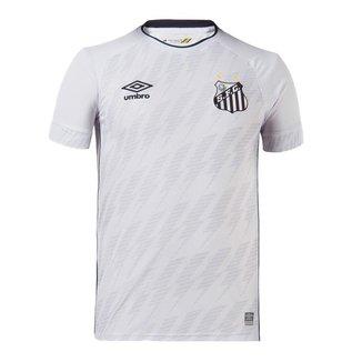 Camisa Umbro Santos I 21/22 Masculino - Branco e Preto