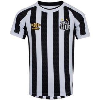 Camisa Umbro Santos II 21/22 Masculino - Branco e Preto