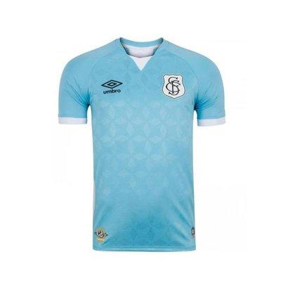 Camisa Umbro Santos III 2020 Masculina - Azul e Branco