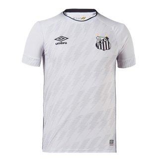Camisa Umbro Santos Oficial 1 Masculina - Branco e Preto