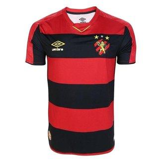 Camisa Umbro Sport Recife I 2019 Masculina - Vermelho e Preto