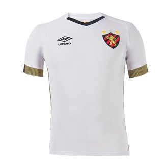 Camisa Umbro Sport Recife II 21/22 Masculina - Branco e Preto