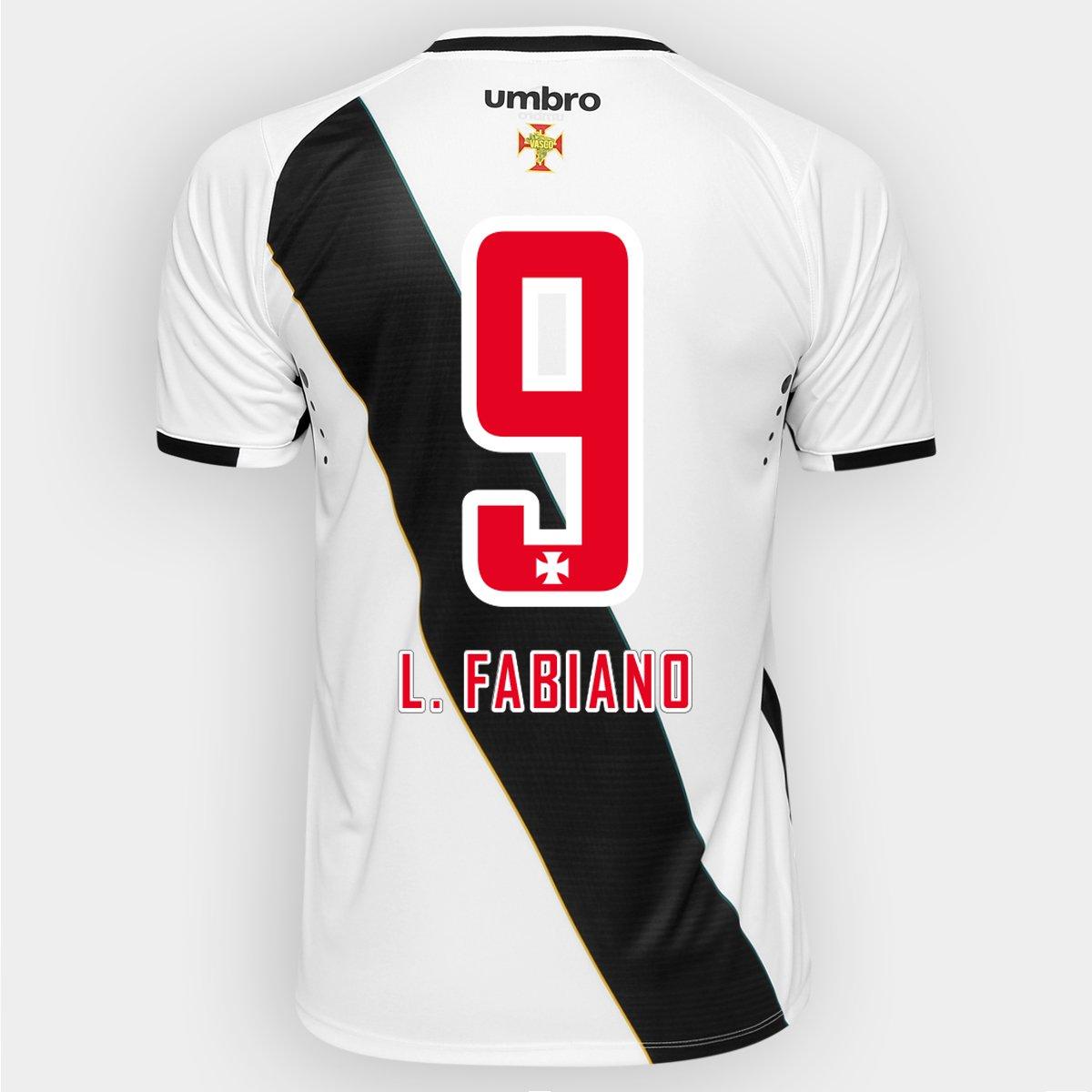 770ad67f9 Camisa Umbro Vasco II 16 17 Nº 9 - L. Fabiano - Compre Agora