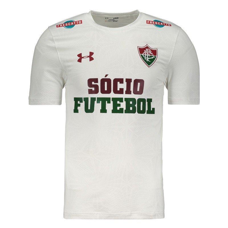 cccb121a4ee Camisa Under Armour Fluminense II 2017 Performance com Patrocínio - Branco  - Compre Agora