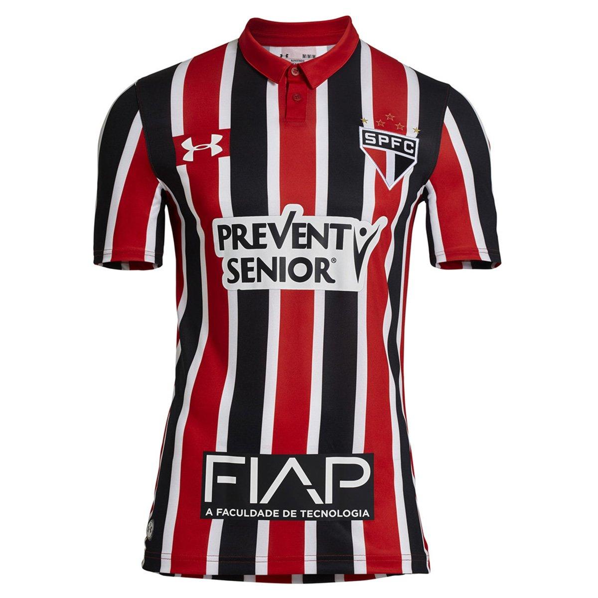 Camisa Under Armour São Paulo II 16 17 s nº - c  Patrocínio - Compre Agora   ffe3ada2a3553