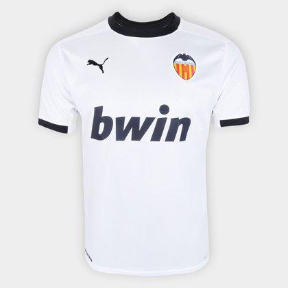 Camisa Valencia Home 20/21 s/n° Torcedor Puma Masculina