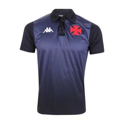Camisa Vasco 2021 Polo Oficial Atleta Preta