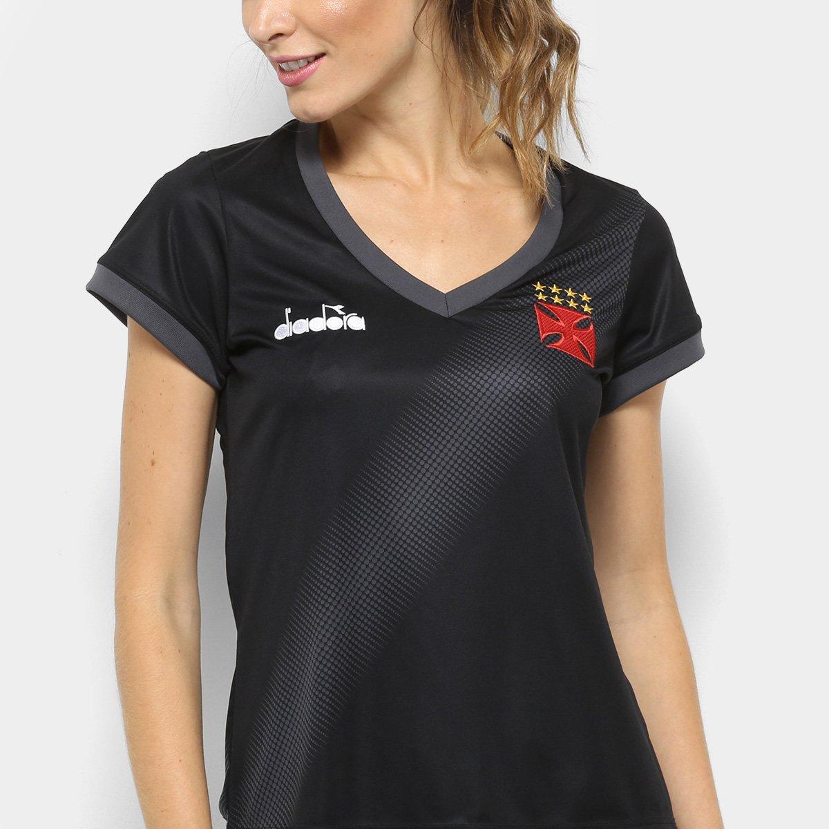... Feminina Camisa Camisa Vasco 2018 Vasco Preto Diadora Aquecimento YTaw7f 0fb952c6712db