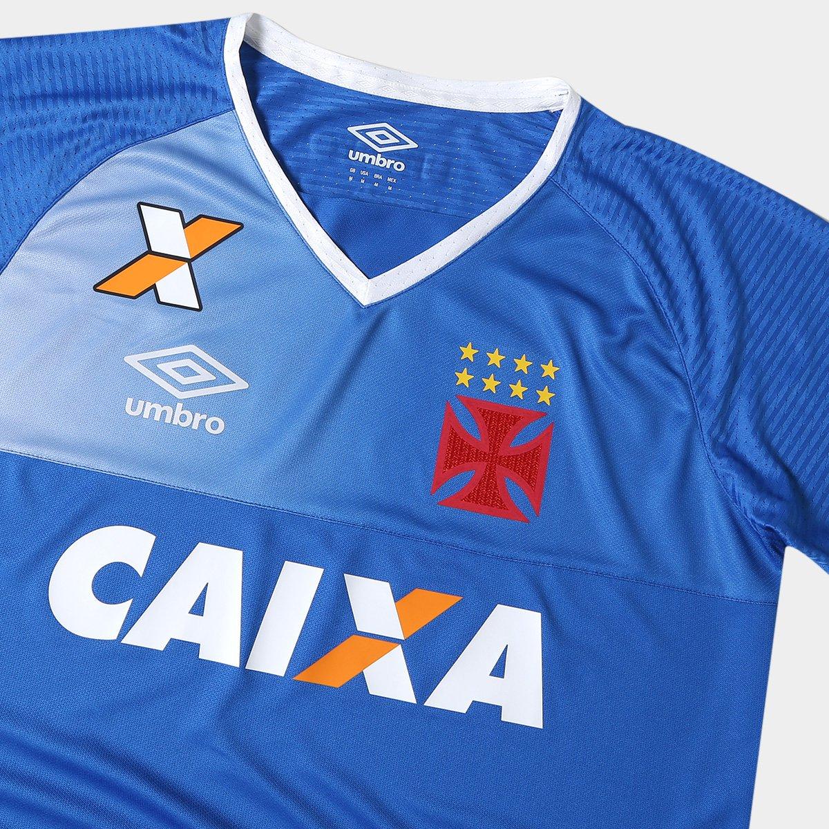 Camisa Vasco Goleiro 17 18 s nº Torcedor Umbro Masculina - Azul e ... 4c9b9d75bee6a