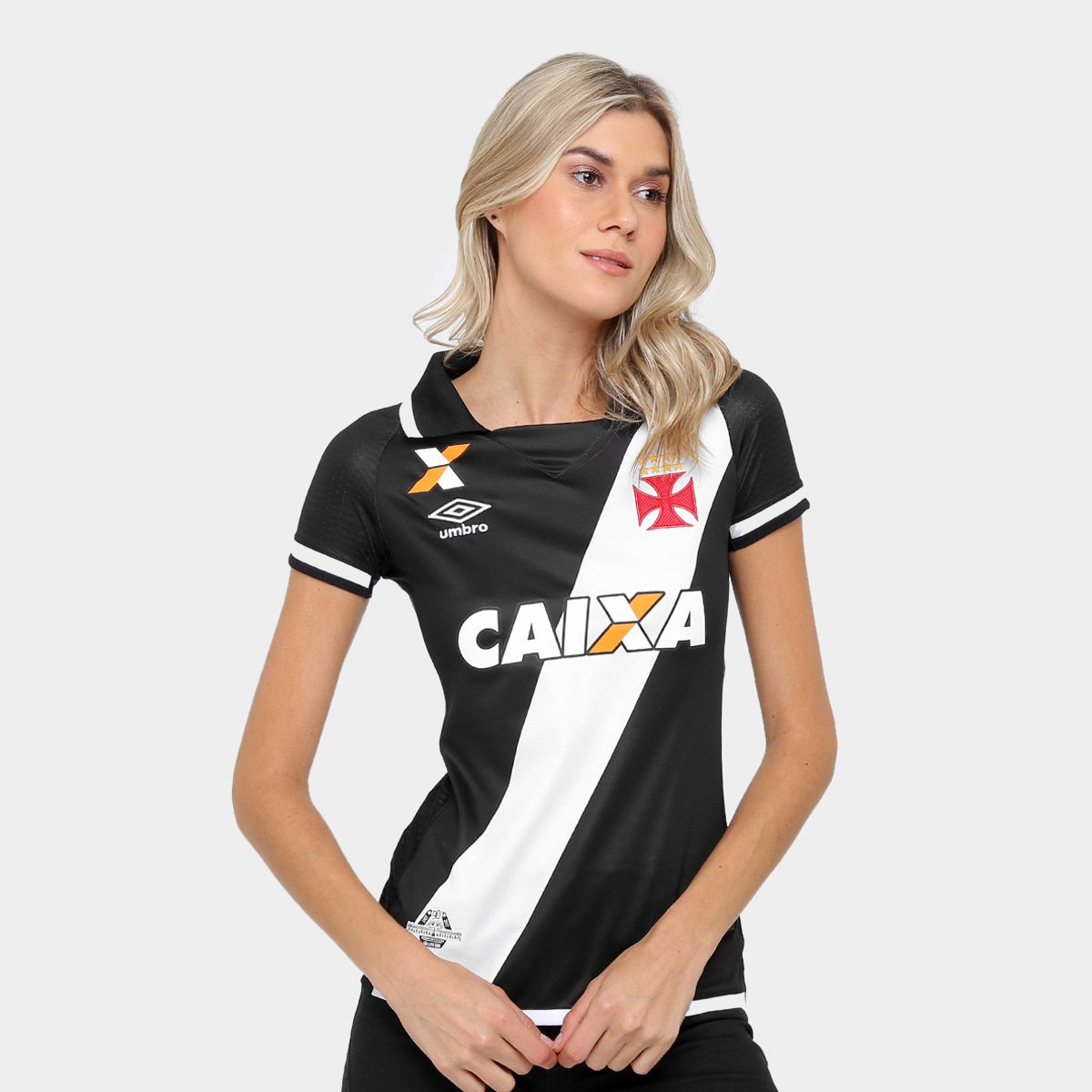 s Feminina Preto Camisa 18 e nº 17 Torcedor I Vasco Branco Umbro zB8qIT ... 7de8b8cda1c1e
