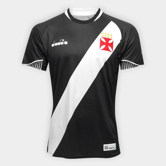 Camisa Vasco I 2018 s/n° Jogador Diadora Masculina - Preto