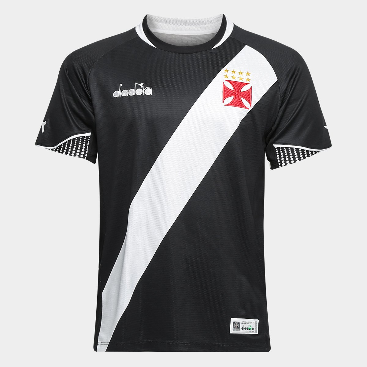 Camisa Vasco I 2018 s n° - Torcedor Diadora Masculina - Preto ... 7e4b9ee872eda